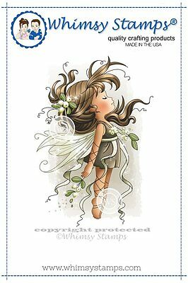 Whimsy Stamps - Cling Mounted Rubber Stamp - Mistletoe Fairy