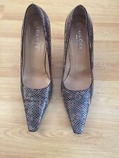 CLASSIC DESIGNER GUCCI HEELED REAL SNAKE SKIN WOMEN SHOES Sz 39.5 UK 6.5