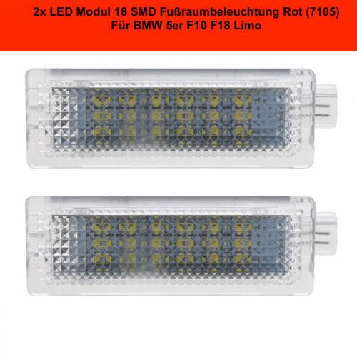 2x DEL Module 18 SMD la partie basse éclairage BMW 5er f10 f18 Limo 7105 rouge