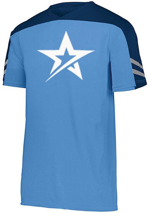 redo Grip Men's Nomad Performance Crew Bowling Shirt DriFit Columbia bluee Navy