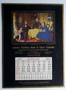 Syracuse Calendar.Details About Lincoln National Bank Trust Syracuse Ny Large 1952 Unused Calendar