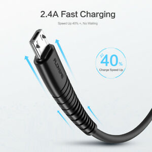 Details about FLOVEME Micro USB Android Charger Cable 2M Braided Data Sync For Samsung Xiaomi