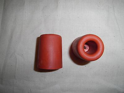 2 Türstopper aus Vollgummi in hochwertiger Qualität und 5 cm hoch in weiss