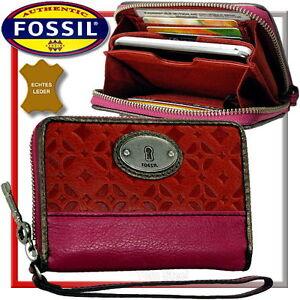 FOSSIL-Damen-Geldboerse-Brieftasche-Geldtasche-Portemonnaie-Geldbeutel-Leder