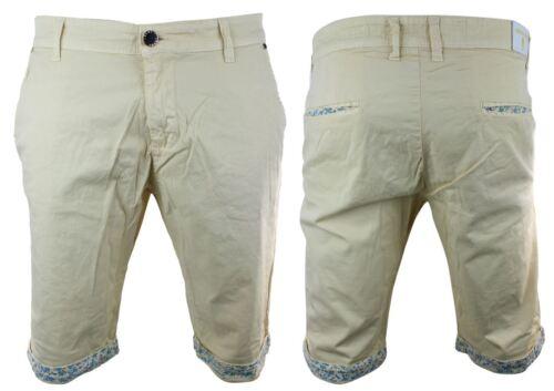 Mens Summer Beach Holiday Chino Shorts Orange Blue White Yellow