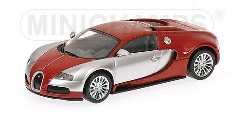Bugatti Veyron Edition Centenaire rouge & Chrome 1 43 Model MINICHAMPS