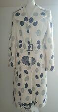 Stunning!!VGC Missoni (mainline) ivory patterned wool blend coat.sz38/uk 10/US 6
