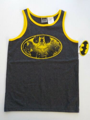BOYS SIZE M BATMAN BRAND BLACK AND YELLOW GRAPHIC TANK NEW NWT #1206