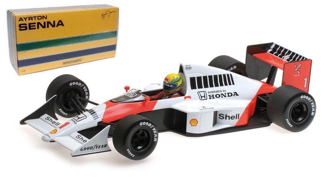 Minichamps McLaren Honda MP4 5 Ayrton Senna 1 18 Escala