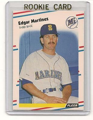 Edgar Martinez 1988 88 Fleer Rookie Card #378 Quantity Available  HOF