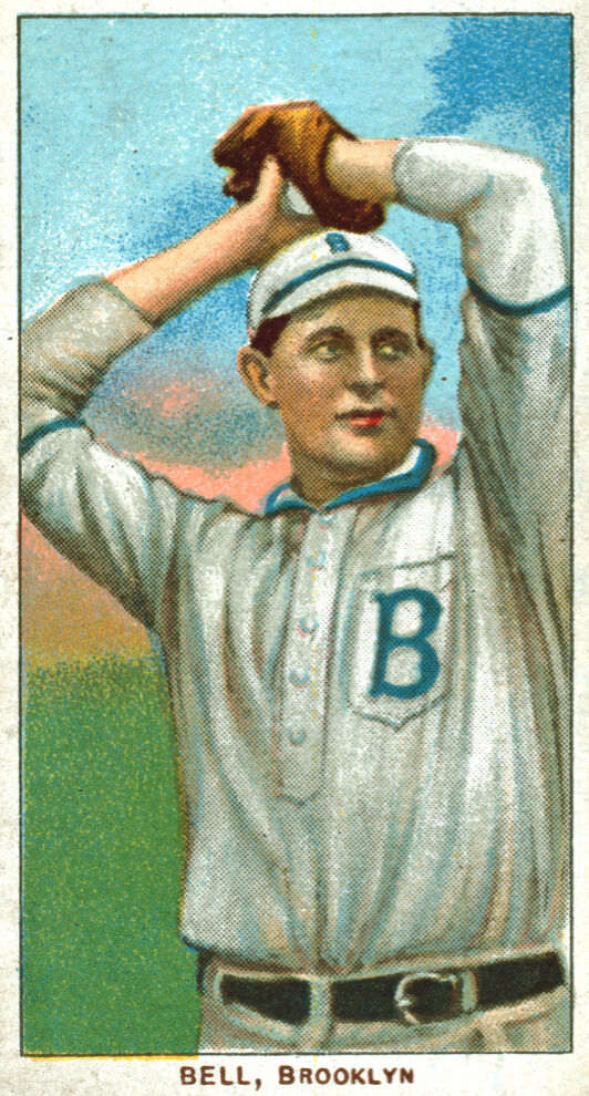 3843.Bell Brooklyn Baseball Player POSTER from early sport card.Room design