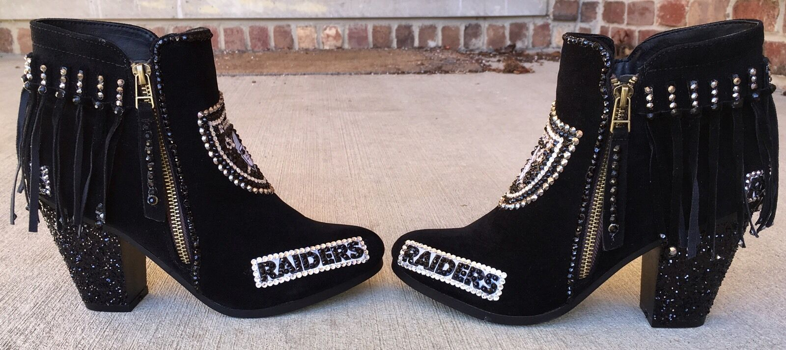 edizione limitata Oakland Raiders Raiders Raiders BRILLIANT avvioies  Custom MADE Any Team, Any Sport Sz6-10  grande vendita