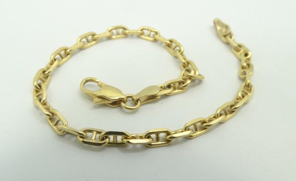 4657bb8bfdbdc 7 7 Bracelet Chain link Rolo Mariner Cut Diamond Italian YG 18K ...
