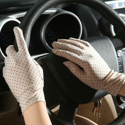 Protective Bow Design Gloves Sun Anti UV Summer Driving Lace Thin For Women