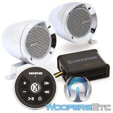 "Memphis Mxabmc2bt 3"" Speakers Amplifier Bluetooth Marine Boat Motorcyle ATV UTV"