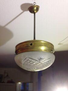 Antike Deckenlampe, Art Déco, 20er oder 30er Jahre, Funktionstüchtig ...
