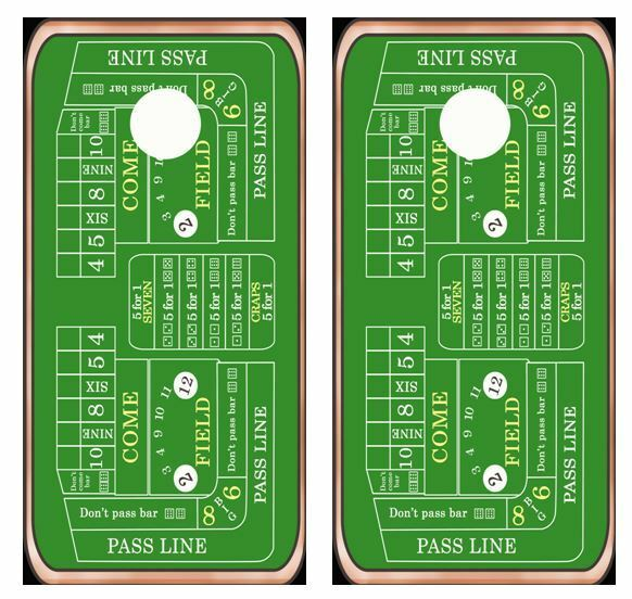 Craps Table Layout Cornhole Board Wraps