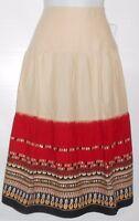 Sag Harbor Ladies Tiered Embellished Skirt Multi-color Eight (8)