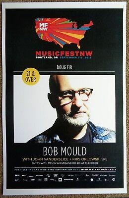 BOB MOULD 2013 Gig POSTER MFNW Portland Oregon Musicfest NW Concert HUSKER DU