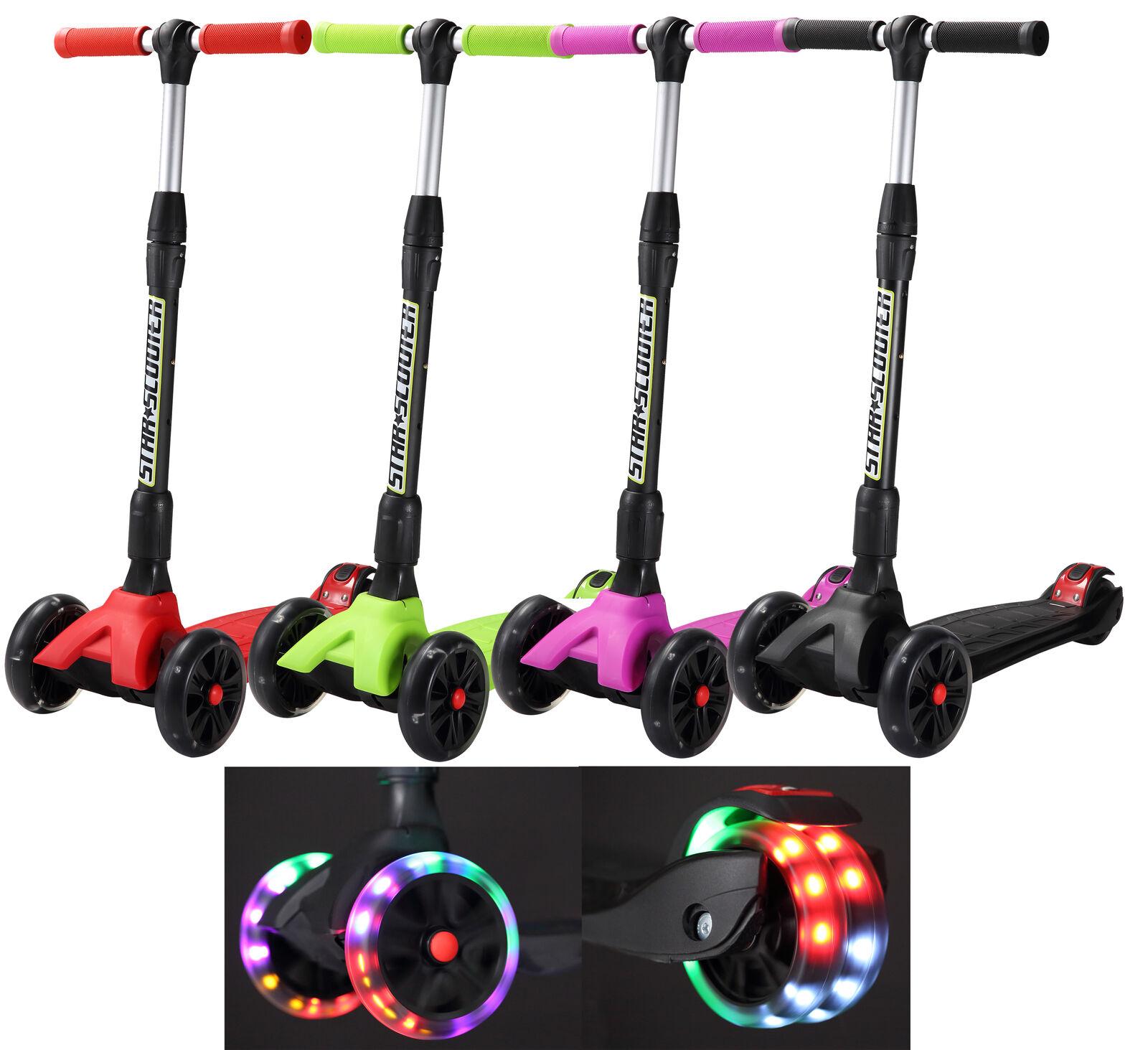 STAR-SCOOTER Dreiradscooter Kinderroller Cityroller Tretroller LED Rollen ab 7 J
