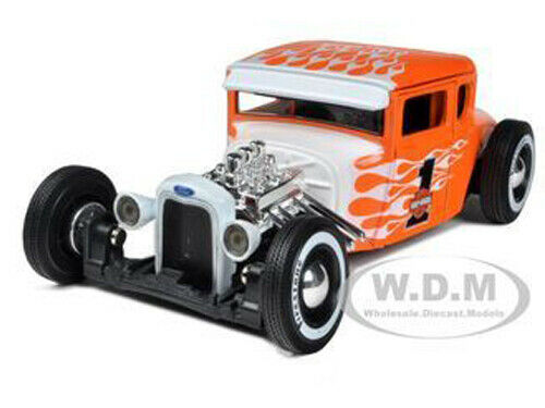 1929 FORD MODEL A #1 HARLEY DAVIDSON ORANGE WITH FLAMES 1//24 BY MAISTO 32175