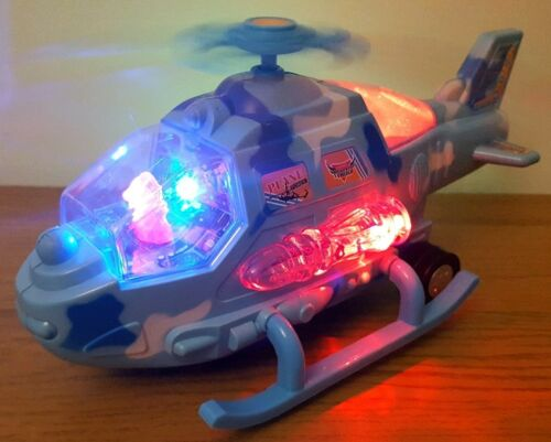 HELICOPTER MISSILE STUNT /& BUMP /& GO CAR LIGHTS REALISTIC SOUNDS BOYS GIRLS TOYS