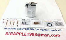 Ronson 1960~1980th Vintage Gas Lighter repair Kit R1-B Free Youtube DIY Video 12