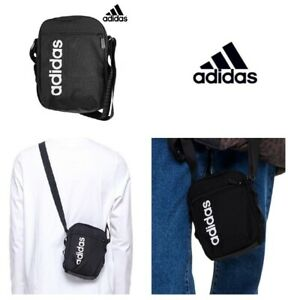 500c4715d0 Details about New Adidas Linear Core Shoulder Bag Messenger Bag, Travel  Crossbody Bag, Black