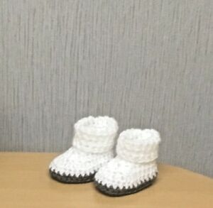 Crochet pattern Baby Bootees size 56-62