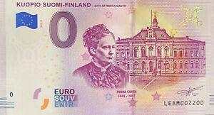 BILLET-0-EURO-KUOPIO-SUOMI-FINLAND-2018-NUMERO-2200