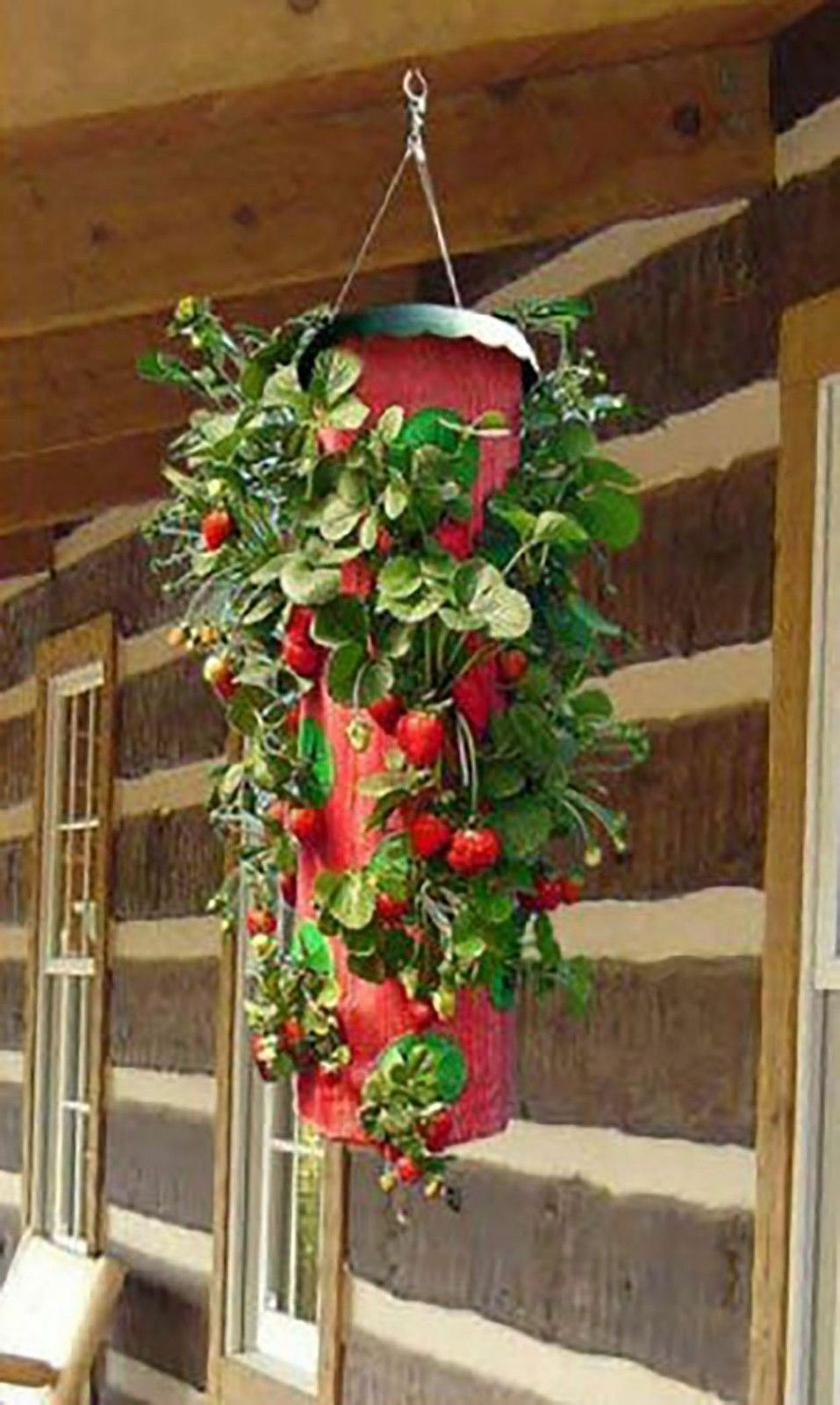 Topsy Turvy Strawberry Round Upside Down Planter - As Seen On TV Grows 15 qts