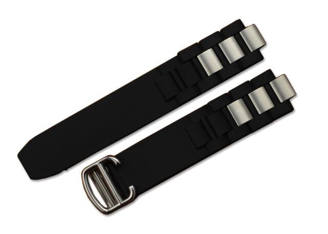 20mm Rubber Strap Watch Band Deployant Clasp for Cartier Chronoscaph Autoscaph