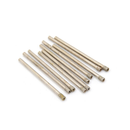 10Pcs 3mm Diamond coated drill bit hole saw core drills FFLA