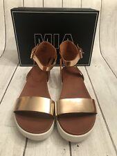 d9cba86395cb MIA Women s Ellen Rose Gold Platform Sandals Sizes 8 for sale online ...