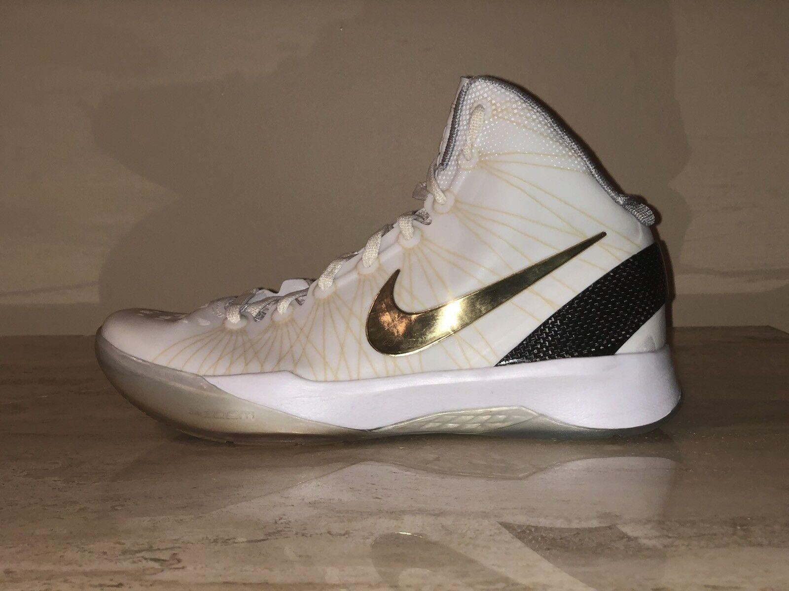 Nike Zoom Hyperdunk Elite White Gold (YEAR 2011) 511369-100 Men's US 8 RARE