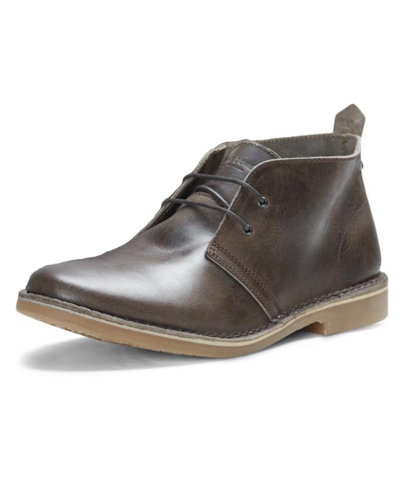 JACK Gobi in Pelle & JONES Desert Stivali Scarpe Da Uomo Marrone Cioccolato Casual Boot