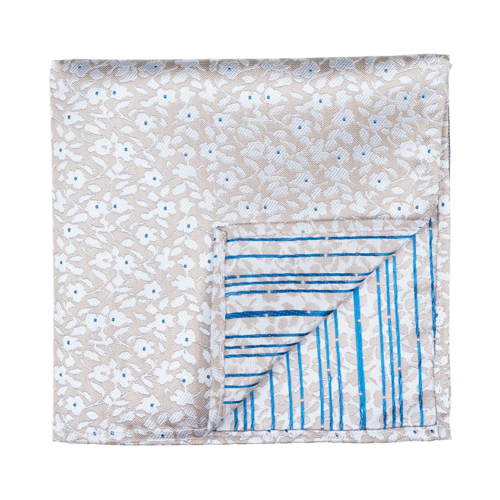 UK Beige Pocket Square Ditsy Floral Wedding Handkerchief Multiple Colours