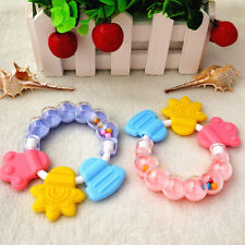 Healthy Baby Kids Rattles Biting Teething Teether Balls Toys Circle Ring Toy L#S