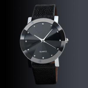 Wrist-Watch-for-Kids-Boys-Girl-Children-Women-Ladies-Fashion-Black-Leather-Band