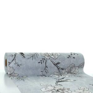 Tischlaeufer-Maylin-in-Hellgrau-aus-Linclass-Airlaid-40-cm-x-24-m-Floral-Bluete