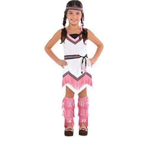 Amscan Native American Spirit 3-4 ANNI-COSTUME Ragazze Costume Indiano Rosso