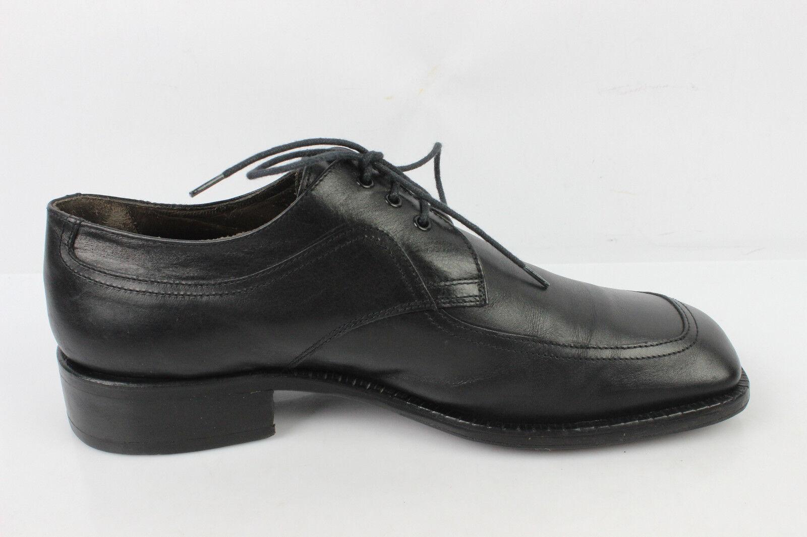 Vintage Oxfordschuhe MONDERER Jeans Claude MONDERER Oxfordschuhe Spitze quadratisch Vollleder a46290