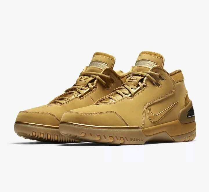 Nike Zoom Generation ASG QS Retro Lebron James Wheat Gold Size 6.5 (AQ0110-700)