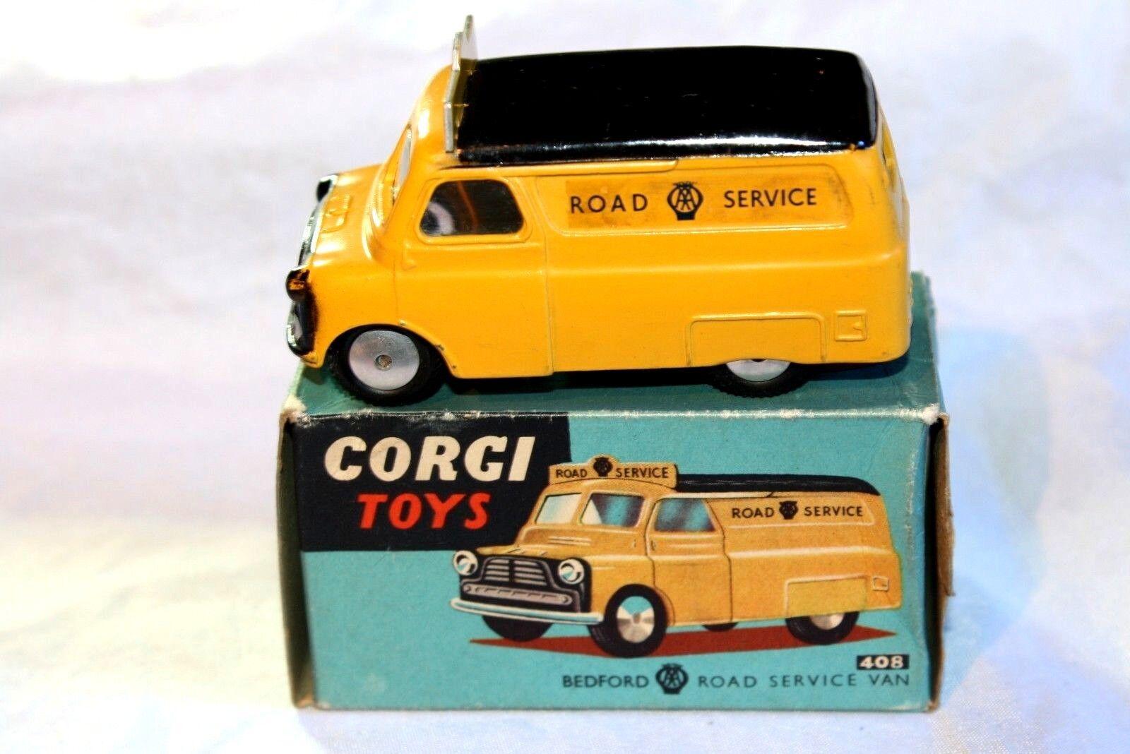 CORGI  408 BEDFORD Van AA, ottime condizioni nella scatola originale