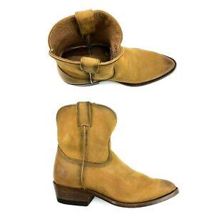 46f1f7fce7f Details about Frye Western Billy Women Size 6 Italian Leather Short Boot  Cognac Distress $258