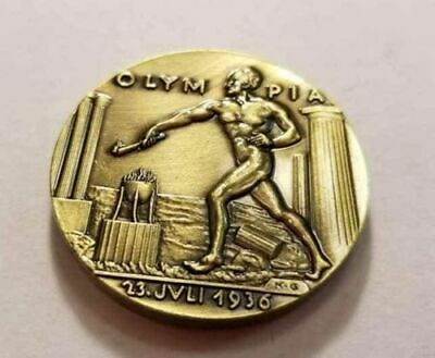 WW1 WWII German Karl Goetz coin medal medallion silver Olympia 1936