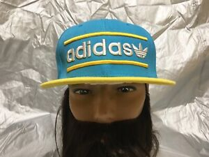 2c979a3d Image is loading adidas-Originals-Trefoil-Snapback-Embroidered-Flat-brim- Baseball-