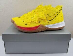 Details about Nike Kyrie Irving 5 Spongebob Squarepants Yellow Gum Brown  Mens Size 12