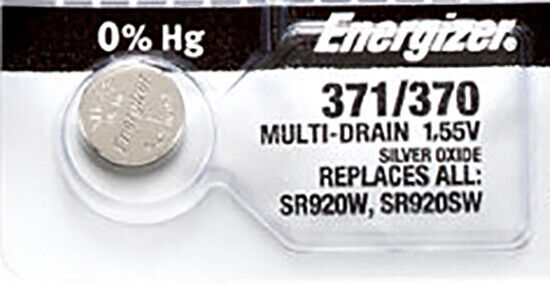 1 x Energizer 371 Watch Batteries, SR920SW or 370 Battery | Shipped from Canada