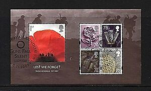 "GB Stamps 2007 ""Lest We Forget"" sg MS2796 - Fine used"
